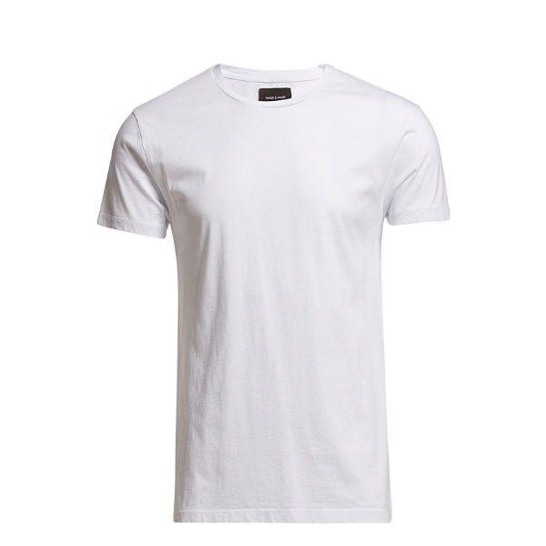 klassisk vit t-shirt herr höst 2018
