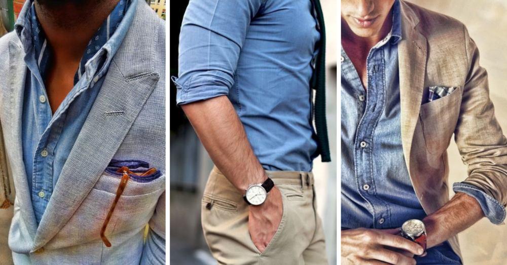 jeansskjorta till kavaj stiltips