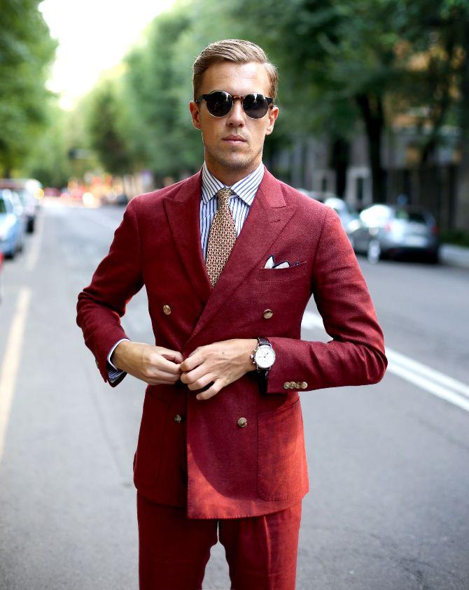 röd kostym