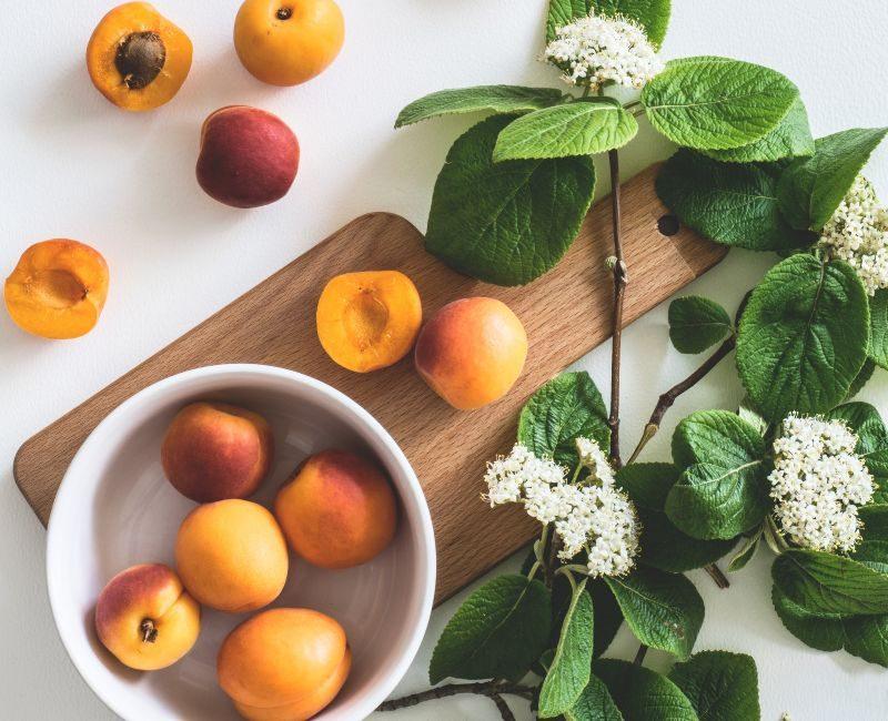 frukt med lite socker persika