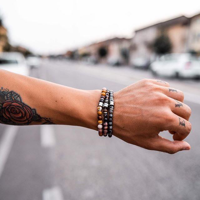 manifestation beads armband herr